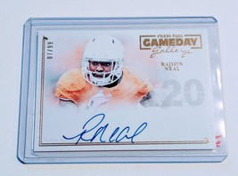 Nfl Rajion Neal Autographed 2014 Press Pass Gameday Gallery /99 Mnt - $1.42