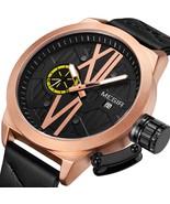 MEGIR 1078 Luminous Display Calendar Quartz Watch Unique Design Men Wris... - $36.57