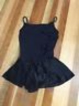 Freestyle Danskin Girl's Black Unitard Skirted Ruffles Size 10/12 - $10.39