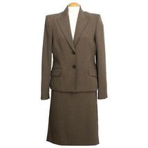 ANNE KLEIN Espresso Brown Stretch Classic Fit Skirt Suit 12 - $119.99