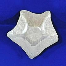 Akcam Bowl - Glass Iridescent Pearl White Starfish Nautical, Beach -Turk... - $16.50