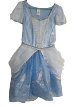 Disney Cinderella Ball Gown Princess Dress blue pumpkin coach glitter sequin M - $24.74