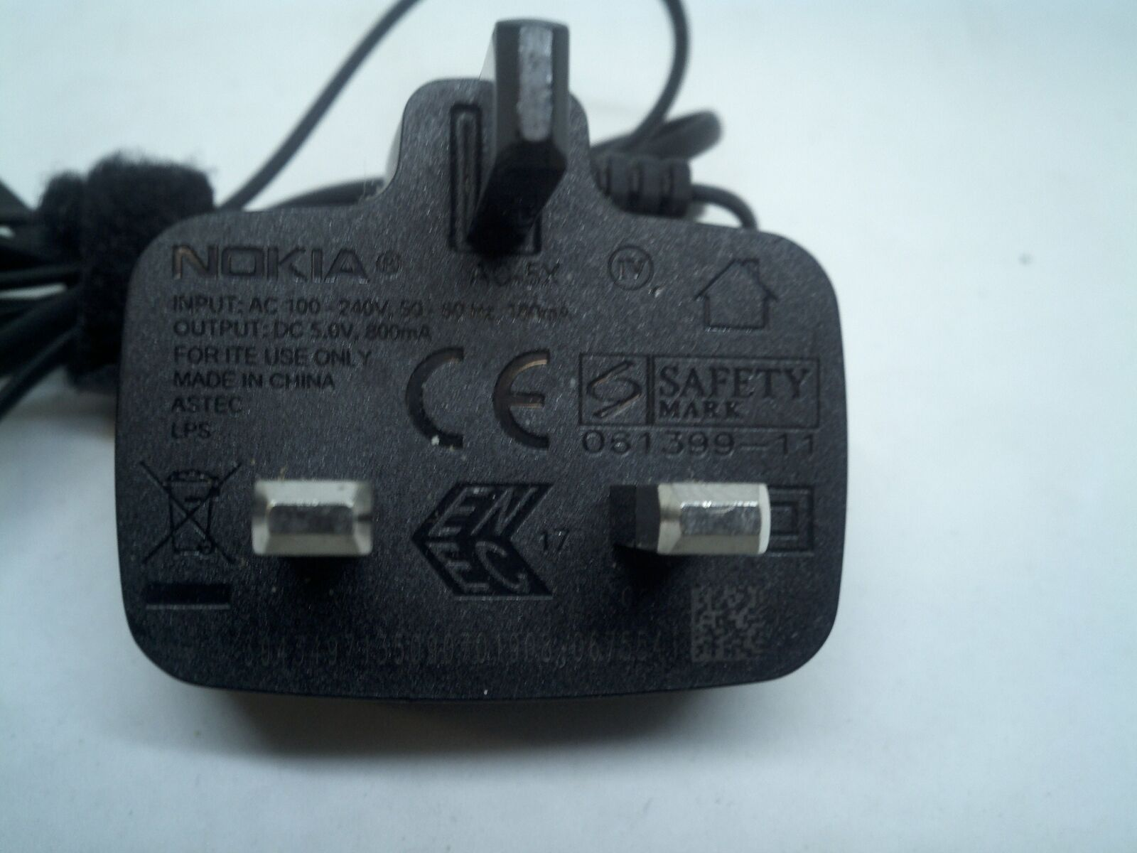 Nokia AC-5X Wall & Travel Charger 5VDC 800mA