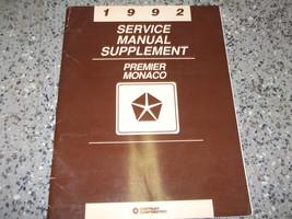 1992 Eagle Premier Service Shop Repair Manual Oem Factory 92 Supplement - $4.28