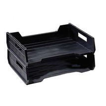 SkilCraft Plastic Desk Tray, Side Loading, Legal-Size, Stackable, 2/PK, ... - £16.45 GBP