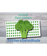 broccoli   planner stickers   food icon   for planner and bullet journal - $3.00+