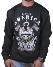Entree Lifestyle Hergestellt IN America Armee Tank Lang Rundhals Sweatshirt Nwt