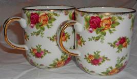Royal Albert Old Country Roses! Set of 2 Coffee Mugs! - $14.85