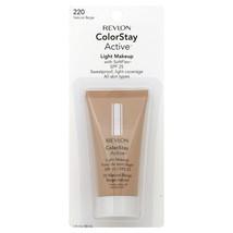 [2 Pack] Revlon ColorStay Active Light Makeup, 220 Natural Beige - 1 fl oz - $62.94