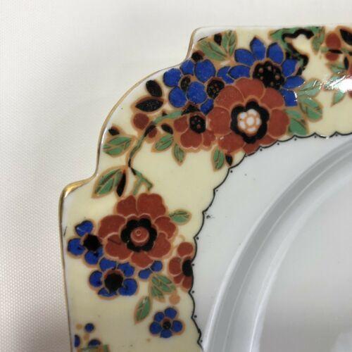 VTG John AYNSLEY Romany Square Dessert Plate Made England Art Deco Bone China