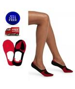 HUE Womens Sneaker Liner Socks 2 Pair Value Pack Red Hot - NWT - $6.83