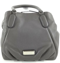 $448 MARC JACOBS NEW Q FRAN GREY ITALIAN LEATHER SHOULDER TOTE BAG PURSE... - $264.10