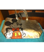 Disney Parks Mickey Mouse Tote Bag Metallic Silver & Glitter - $25.00