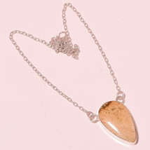 "Fashionable Ivory Quartz Gemstone Fashion Jewelry Chain Pendant S-1.40"" ... - $4.93"