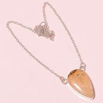 """Fashionable Ivory Quartz Gemstone Fashion Jewelry Chain Pendant S-1.40"""" UK-35 - $4.93"""
