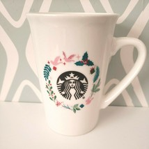 Starbucks Christmas Holiday Wreath Coffee Cocoa Mug Cup 2019 10oz - $19.74