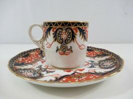 Royal Crown Derby Old Japan Demitasse Tea Cup Saucer Coffee Imari Style c. 1900 - $38.69