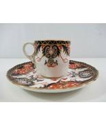 Royal Crown Derby Old Japan Demitasse Tea Cup Saucer Coffee Imari Style ... - $38.69