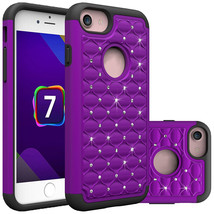 Hybrid Armor Dual Layer Protective Case for iPhone 7 4.7inch - Purple&Bl... - $4.99