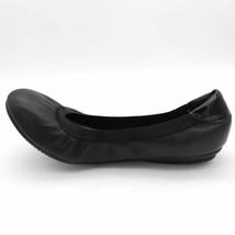 Lands End Womens Ballet Flat Shoes Black Leather Round Toe Slip Ons 8 D EUR 38.5 - $25.73