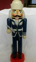 Military nutcracker Sailor wearing blue uniform w/ telescope and anchor - $15.00