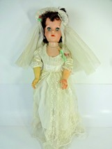 VTG Eegee 20 HH Doll Large Wedding Bride w/ Veil Stockings & Shoes - Joi... - $54.44