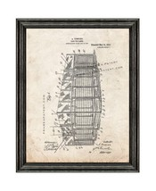 Cage For Games Patent Print Old Look with Black Wood Frame - $24.95+