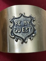 """Set of 6 Vintage """"Be My Guest"""" Napkin Rings image 4"""