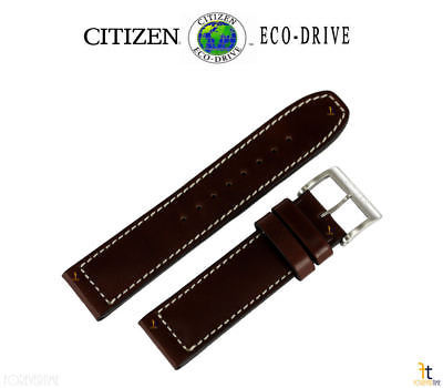 Citizen 59-S53290 Original 22mm Brown Leather Watch Band fits CA4210-24E S097240
