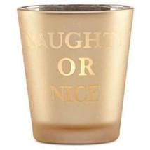 Lenox Holiday Gold Naughty or Nice Glass Votive Light - $9.89