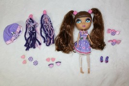 "Cutie Pops 10.5"" Doll Jada Group Brunette Clothes Shoes Hair Clips Eyes ... - $33.65"