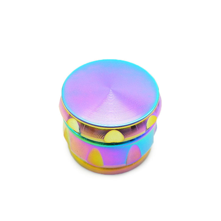 63mm 4 Piece Colorful Drum Shape Tobacco Herb Grinder Metal Spice Crusher Zinc A