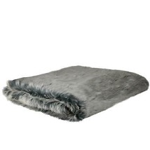 """Northlight White and Gray Faux Fur Super Plush Throw Blanket 50"""" x 60"""" - ₹4,487.33 INR"""