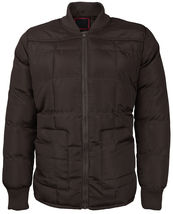 vkwear Men's Quilted Padded Insulated Heavyweight Puffer Bomber Jacket VAQ image 5