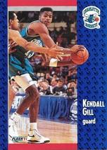 Kendall Gill ~ 1991-92 Fleer #20 ~ Hornets - $0.05