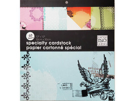 MAMBI Specialty Cardstock Airmail, 40 Sheets, Glittered, Matte, Metallic
