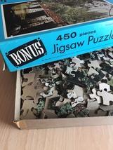 "Vintage 50s Whitman Bonus Interlocking Border Jigsaw Puzzle- #4651 ""Bridge""  image 8"