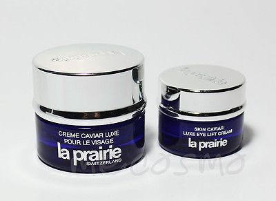 La Prairie Skin Caviar Luxe Cream + Skin Caviar Luxe Eye Cream Sample Size for sale  USA