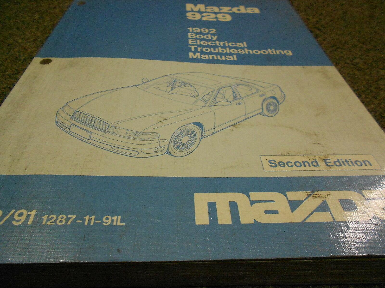 1992 Mazda 929 Körper Elektrisch Wiring Troubleshooting Service Manuell 92