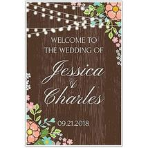 Floral Lights Welcome to our Wedding Sign Poster - $19.80