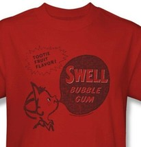 Swell Bubble Gum T-shirt Free Shipping candy cotton distressed red tee DBL128 image 1