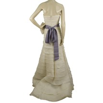 Vera Wang Silk Floor Length Bridal Wedding Gown Dress Strapless US 8 EU 42 image 2