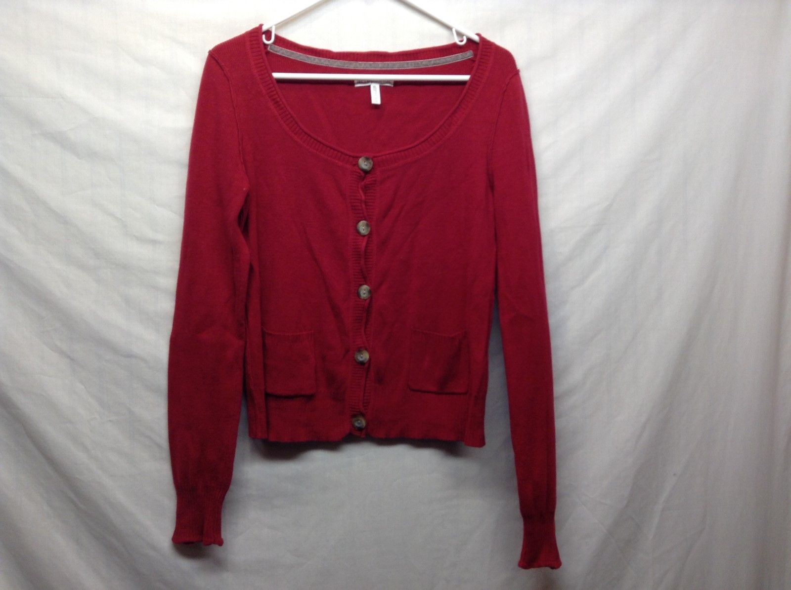 Aeropostale Red Button Up Cardigan Sz XL