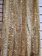GORGEOUS Gold Sequins Shawl Wrap - $28.00