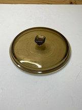 Anchor Hocking Green/ Brown Glass Casserole Dish 2 Qt Lid Only Made in U... - $24.26