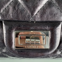 Authentic Chanel Black Quilted Leather Large Reissue 2.55 Accordion Flap Bag image 4