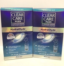 2x NEW Clear Care Plus Triple Action Cleanser Start Kit HydraGlyde 3 oz ... - $14.84