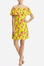 Lauren Ralph Lauren Women's Off-The-Shoulder Floral Print Mini Dress Yel... - $32.49