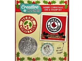 Creative Dies, Merry Christmas Die and Stamp image 1