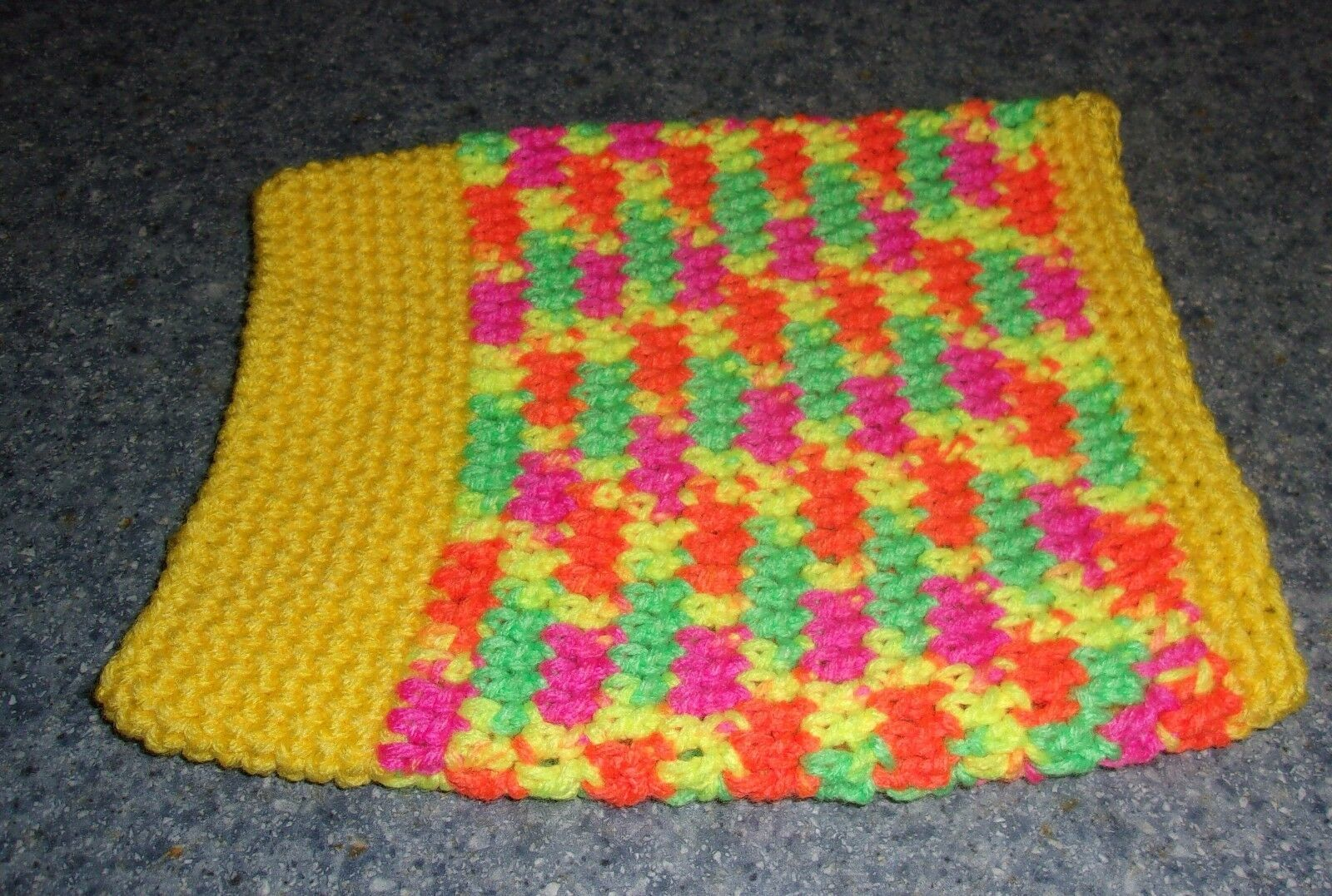Brand New Yellow Hand Crocheted Dog Snood Neck Warmer For Dog Rescue Charity
